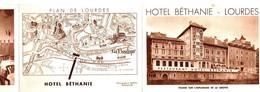 HOTEL BETHANIE . LOURDES . DEPLIANT EN 3 - Advertising