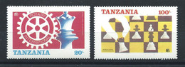 Tanzanie N°275/76** (MNH) 1986 - Championnats Du Monde D'échecs à Londres Et Leningrad - Tanzania (1964-...)