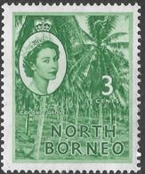 North Borneo. 1954-59 QEII. 3c MH SG 374 - North Borneo (...-1963)