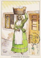 Portugal & Maximum Card, Professions And Characters Of The 19th Century, Seafood Seller, Lisbon 1996 (6) - Costumi