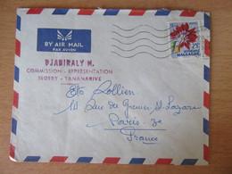 Madagascar - Enveloppe Tananarive Vers Paris 1960 - Madagascar (1960-...)