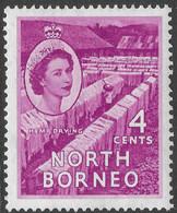 North Borneo. 1954-59 QEII. 4c MH SG 375 - North Borneo (...-1963)