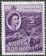 North Borneo. 1954-59 QEII. 5c MH SG 376 - North Borneo (...-1963)