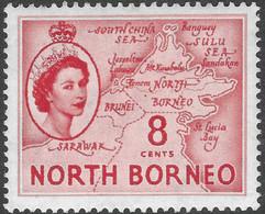 North Borneo. 1954-59 QEII. 8c MH SG 377 - North Borneo (...-1963)