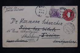 ETATS UNIS - Entier Postal + Complément De New York Pour La Suisse Et Redirigé Vers La France En 1933 - L 108457 - 1921-40