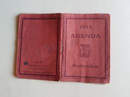 CALENDRIER  AGENDA  1931   DU  MOIS  DE  SEPTEMBRE    HORAIRES  DES  MAREES  LIBRAIRIE  PLON - Formato Piccolo : 1921-40