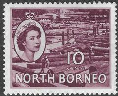 North Borneo. 1954-59 QEII. 10c MH SG 378 - North Borneo (...-1963)