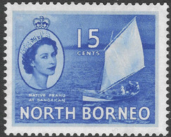 North Borneo. 1954-59 QEII. 15c MH SG 379 - North Borneo (...-1963)