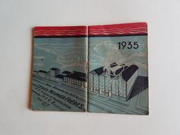 CALENDRIER  AGENDA  1935  PUBLICITE   PATES  ALIMENTAIRES  CERES   NICE - Formato Piccolo : 1921-40
