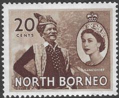 North Borneo. 1954-59 QEII. 20c MH SG 380 - North Borneo (...-1963)