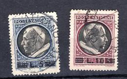 Vaticano (1945) - Medaglioncini Soprastampati, 5 E 10 Lire (o) - Oblitérés