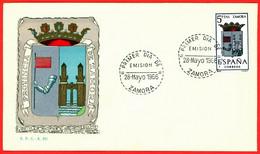 España. Spain. 1966. FDC. Zamora. Escudos. Coat Of Arms - FDC