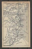 CARTE PLAN 1914 - ALAIS - MONTPELLIER - LARZAC - CETTE - NIMES - BÉZIERS - NARBONNE - BÉDARIEUX - MONTAGNE NOIRE - Carte Topografiche