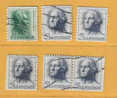 Timbre Etats-Unis N° 740b - 741 - 741b - 741 Carnet - 741 Paire Carnet - Used Stamps