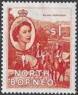 North Borneo. 1954-59 QEII. $1 MH SG 383 - North Borneo (...-1963)