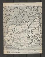 CARTE PLAN 1914 - CHEMINS De FER - RÉSEAUX PLM D'ORLÉANS Du MIDI DÉPARTEMENTAUX - AURILLAC MENDE RODEZ - Carte Topografiche