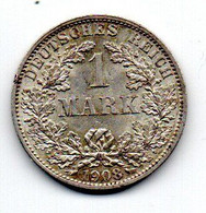 Allemagne  -  1 Mark 1908 A  -  SUP - 1 Mark