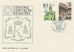 Poland FDC.2869-70: Monuments Of Krakow (IV) - FDC