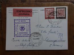 REPUBBLICA - Marcofilia - Mostra Filatelica Merano 1958 - Cartolina Manifestazione + Spese Postali - F.D.C.