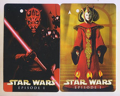 Singapore Old Transport Subway Train Bus Ticket Card Transitlink Unused Star Wars 2 Cards Darth Maul Queen Amidala - Mondo