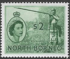 North Borneo. 1954-59 QEII. $2 MH SG 384 - North Borneo (...-1963)
