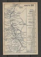 CARTE PLAN 1914 - ITINÉRAIRE Et ALTITUDE - BRIVE FIGEAC RODEZ MILLAU SAINT AFFRIQUE - AURILLAC VILLEFRANCHE - Carte Topografiche