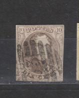 COB 10 Oblitéré P53 HAL - HALLE - 1858-1862 Medallions (9/12)
