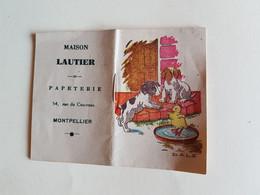 CALENDRIER   AGENDA   1947  PUBLICITE   PAPETERIE  LAUTIER   MONTPELLIER - Formato Piccolo : 1941-60
