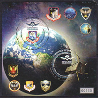 Colombia 2021 Air Force Air And Space Intelligence COA SS MNH - Sud America