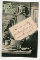 """SANTA CLAUS Le Père NOEL En Repas """" Ne Vous Embetez Pas Trop Cette Année""""  1904 Timb / D20 2021 - Santa Claus"""