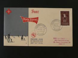 FDC Croix Rouge Red Cross 1954 Sarre Saar Ref 101392 - Croce Rossa