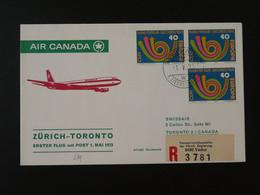Lettre Premier Vol First Flight Cover Liechtenstein --> Toronto Air Canada Via Zurich Europa 1973 Ref 101405 - Briefe U. Dokumente