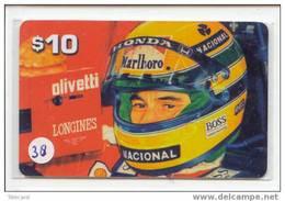 Télécarte AYRTON SENNA (38) Formula 1 Voiture Auto Car Racing Phonecard USA $ 10.00 In Mint - Automobili