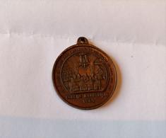 ---1-Ancien Médaille Religieuse 1869 Pius IX Pont Max Vatican Pape Concile œcuménique--cuivre-Rare-- - Royal / Of Nobility