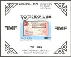 Mexico 1985 Mexfil 85 Block MNH 2110.1505 Postal History - Esposizioni Filateliche