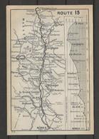 CARTE PLAN 1914 - ITINÉRAIRE Et ALTITUDE - LE PUY LANGOGNE LA BASTIDE VILLEFORT GENOLHAC ALAIS NIMES - ANDUZE MENDE - Carte Topografiche