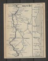CARTE PLAN 1914 - ITINÉRAIRE Et ALTITUDE - LE PUY BRIVES St HOSTIEN ISSINGEAUX MONISTROL FIRMINY LAVOUTE - Carte Topografiche