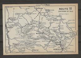 CARTE PLAN 1914 - ENVIRONS De VALS - MONTPEZAT THUEYTS VALGORGE ANTRAIGUES GERBIER De JONC - Carte Topografiche