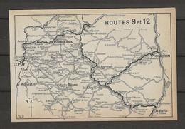 CARTE PLAN 1914 - ITINÉRAIRE - YSSINGEAUX LAVOUTE LE PUY LE MONASTIER MÉZENC LE CHEYLARD TOURNON LA VOULTE - Carte Topografiche