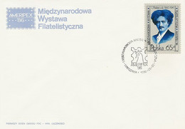 Poland FDC.2879: Ameripex 86 Chicago J.I. Paderewski - FDC