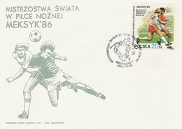 Poland FDC.2880: Football World Cup 1986 Mexico - FDC