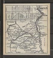 CARTE PLAN 1914 - ITINÉRAIRE Et ALTITUDE - VIENNE St ÉTIENNE FIRMINY ANNONAY St BONNET MONT PILAT - Carte Topografiche