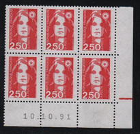 FRANCE  Coin Daté **  Briat  2,50  10.10.91  N° Yvert  2715 Neuf Sans Charnière CD - 1990-1999