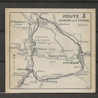 CARTE PLAN 1914 - ENVIRONS De St ÉTIENNE - LE PERTUISET FIRMINY VASSALIEUX St VICTOR ROCHE MOLIERE - Carte Topografiche