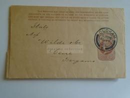 D184917  UK  Newspaper Wrapper - Oldham 1896 - Samuel Dodd Oldham -Lyon Works - Sent To  Italy  Bergamo - Covers & Documents