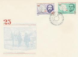Poland FDC.2885-86: 25 Years Of The Antarctic Treaty - FDC