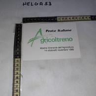 FB11216 AREZZO 1988 TIMBRO ANNULLO MOSTRA ITINERANTE DELL'AGRICOLTURA AGRICOLTRENO - 1981-90: Storia Postale