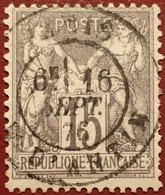 R1311/1098 - SAGE TYPE I N°66 Gris Foncé ➤ BEAU CàD De PARIS Rue D'ANTIN Du 16 SEPTEMBRE 1876 - 1876-1878 Sage (Typ I)
