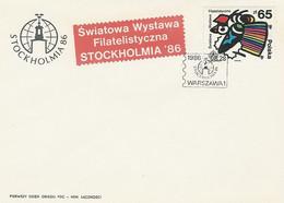 Poland FDC.2900: Philatelic Exhibition Stockholm 86 - FDC