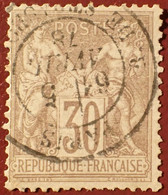 R1311/1101 - SAGE TYPE I N°69 ➤ BEAU CàD De PARIS Rue De STRASBOURG Du 5 AVRIL 1878 - 1876-1878 Sage (Typ I)